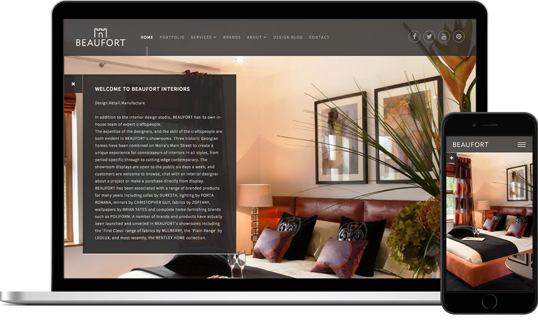 Website Launch for Beaufort Interiors