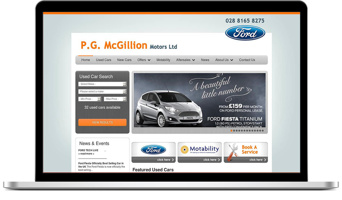 PG McGillion Motors website