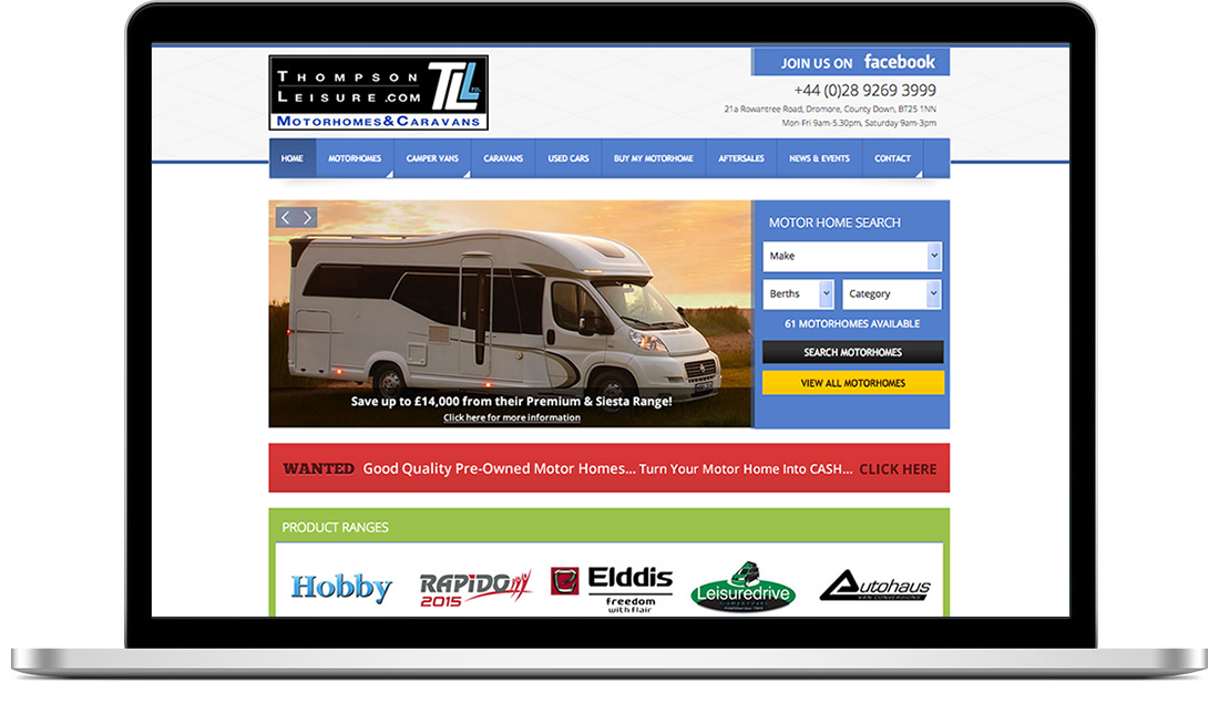 Thompson Leisure website