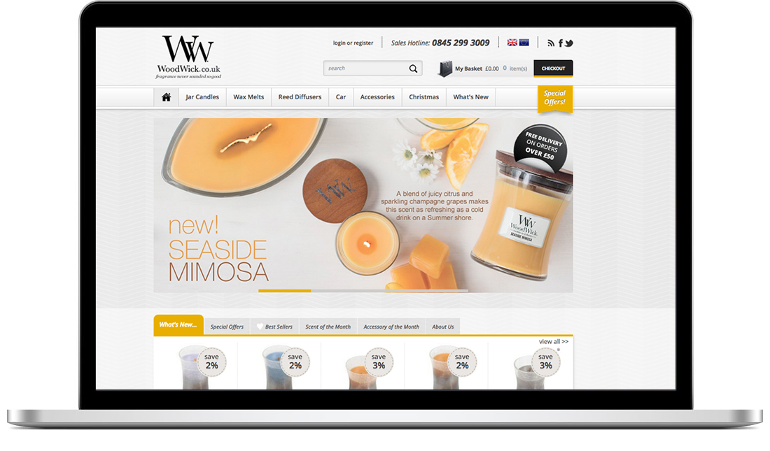 Woodwick Candles website