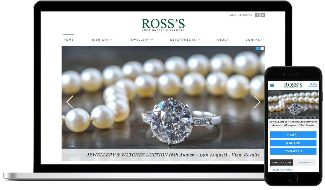 Ross's Auctions website & mobile