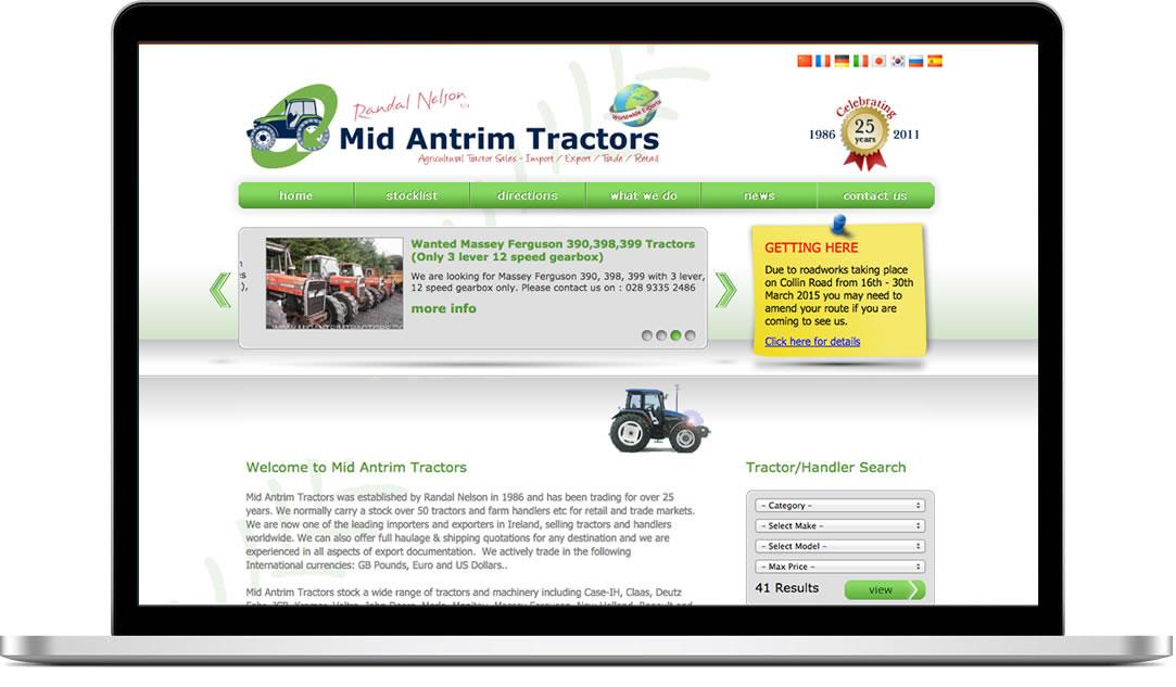 Mid Antrim Tractors website