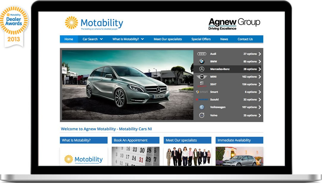 Best Website Motability Awards 2013