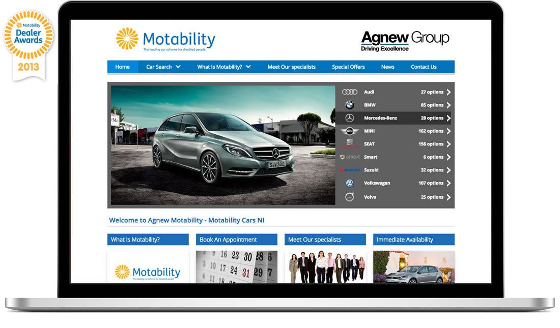 Best Website Award - Motability UK - Blue Cubes Web Design