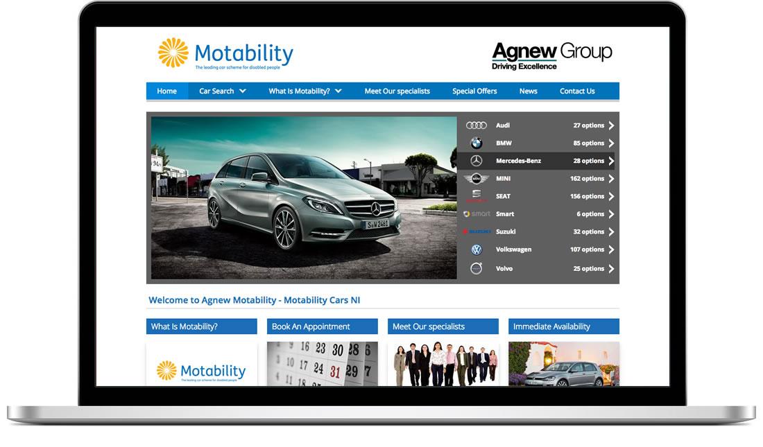 Agnews Motability website