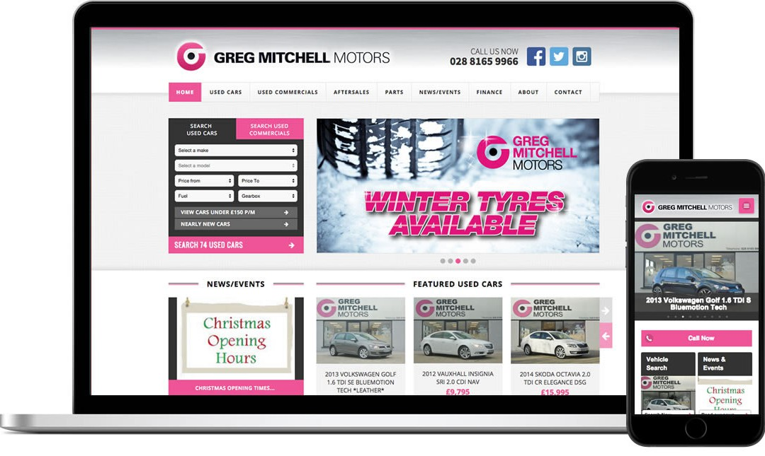 Website Launch for Greg Mitchell Motors
