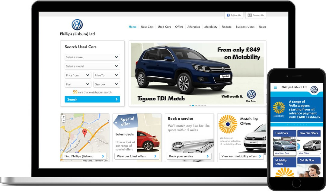Website Launch for Phillips VW Lisburn