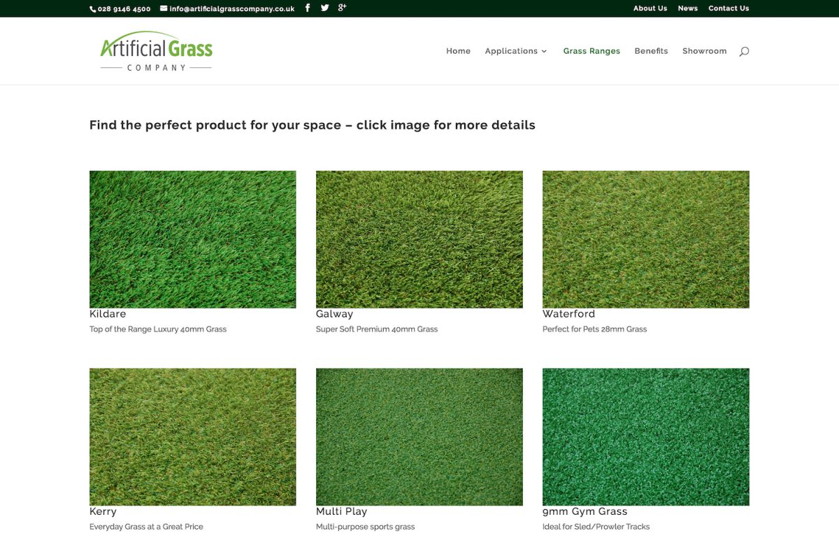 Artificial Grass Company - Grass Ranges