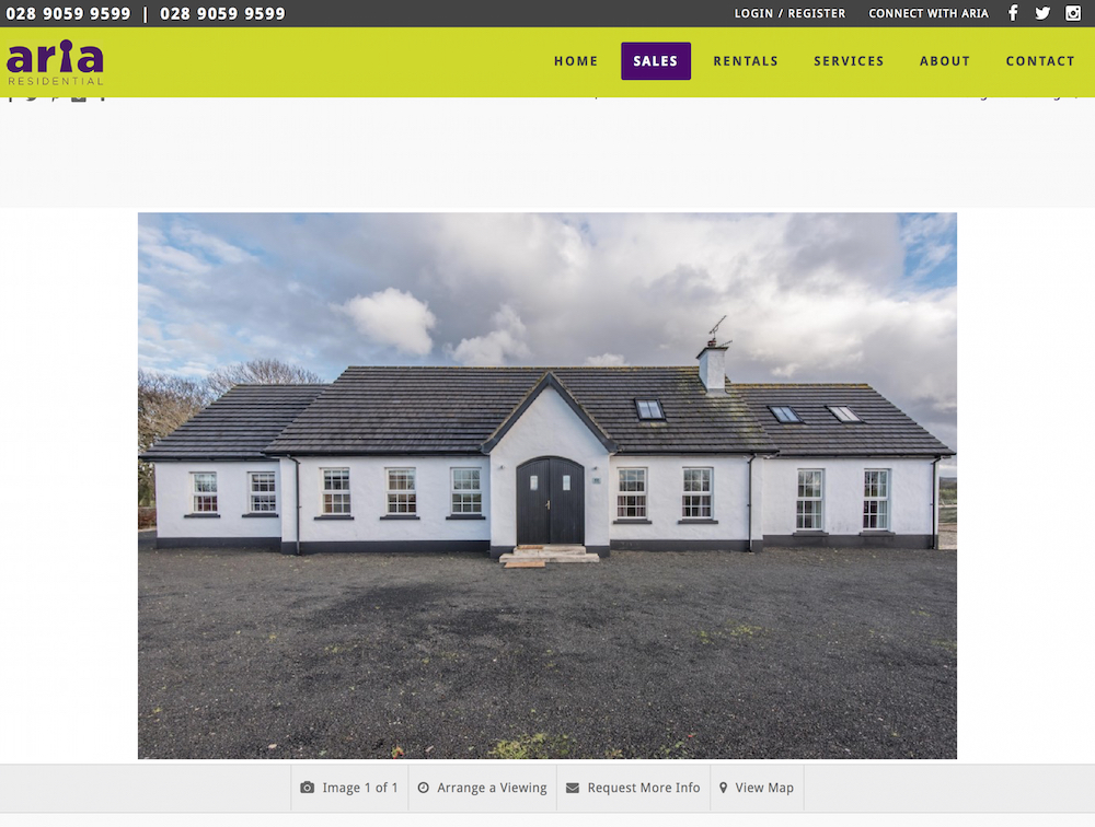 66 Drones Road, Ballymoney Property for sale at Aria Residential estate agents Northern Ireland