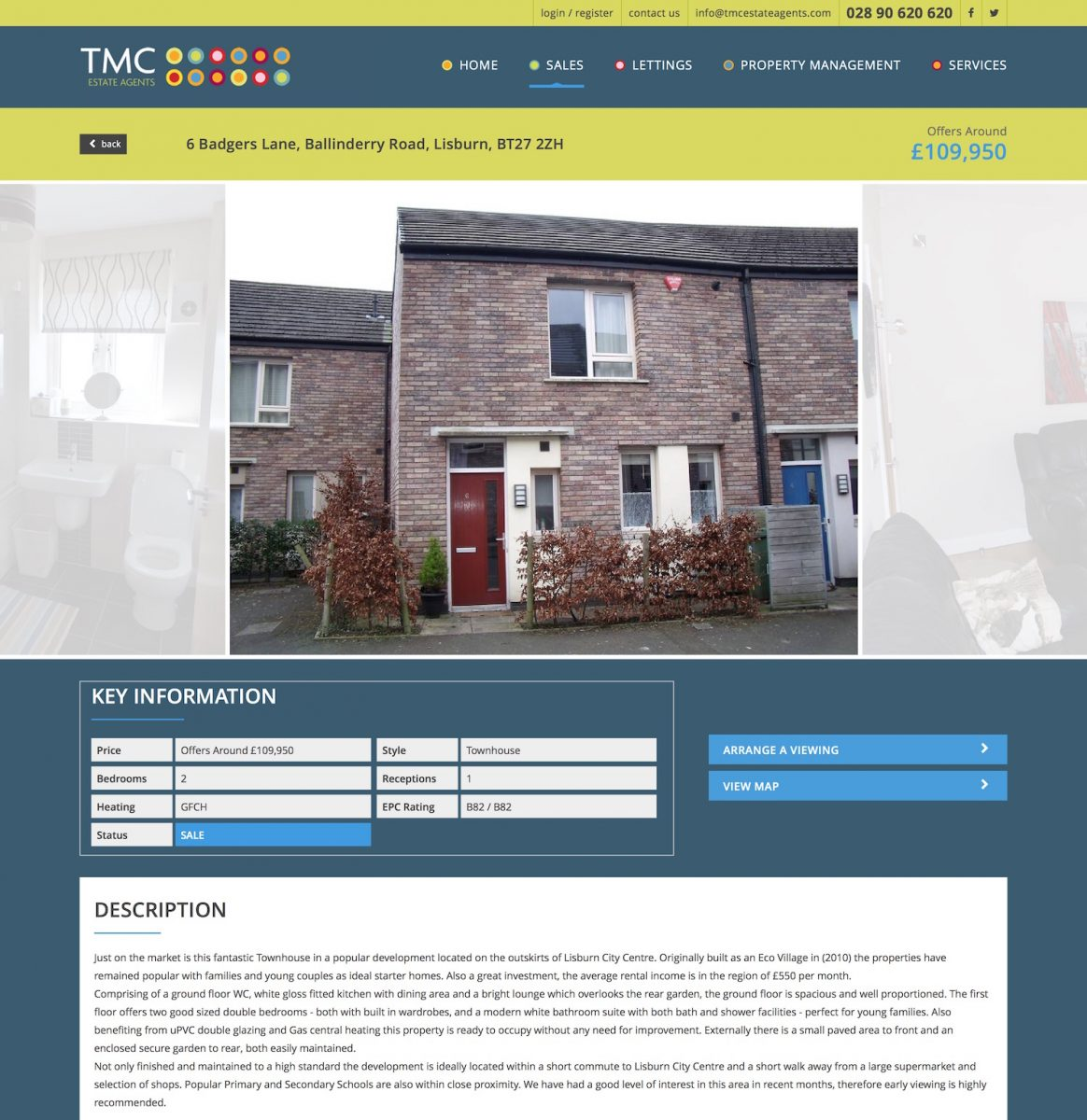 6 Badgers Lane, Ballinderry Road, Lisburn Property for sale at TMC estate agents Northern Ireland
