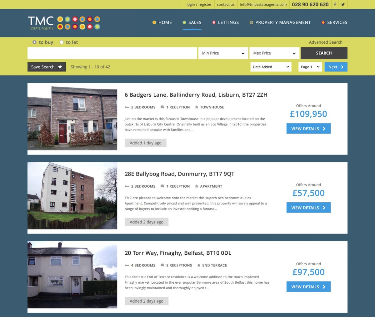 Properties for sale at TMC estate agents Northern Ireland 691