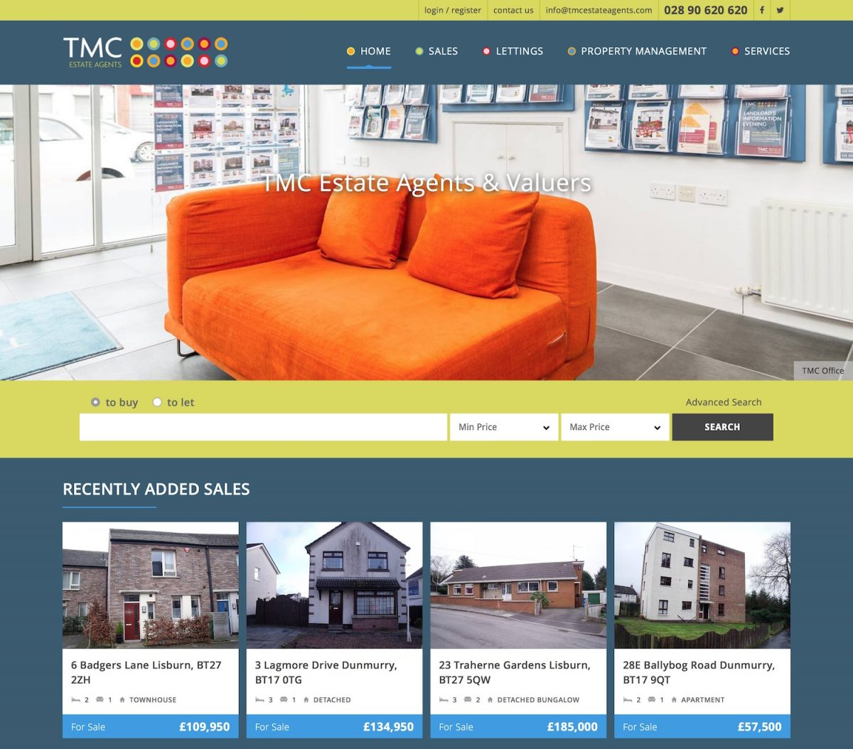 TMC Estate Agents Northern Ireland - Residential Property For Sale and For Rent