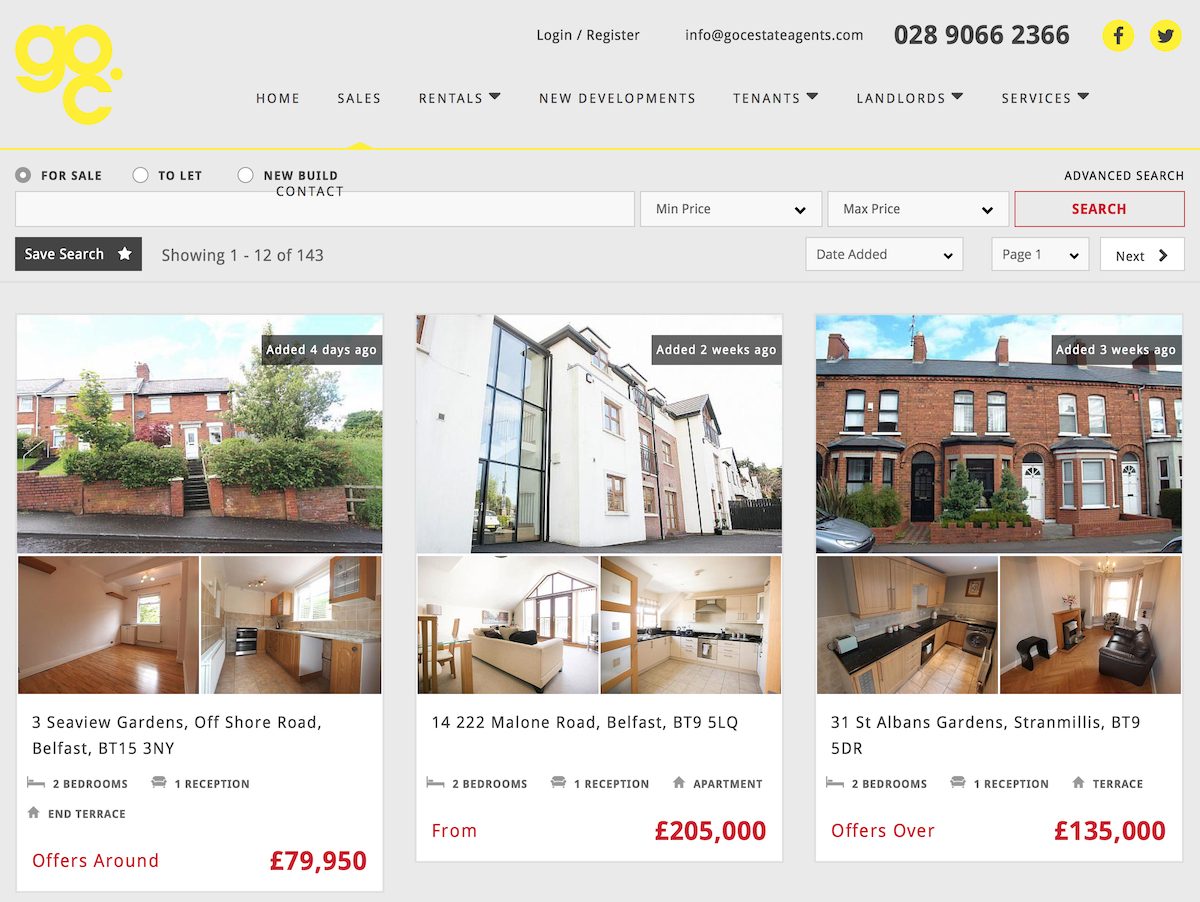 Properties for sale at GOC estate agents Northern Ireland 2793903