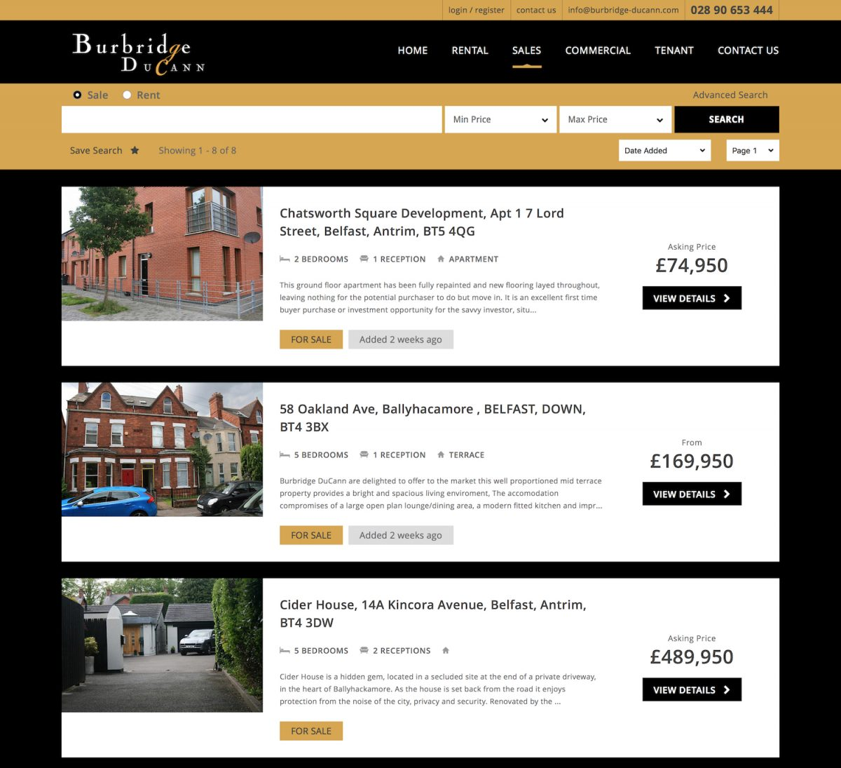 Properties for sale at Burbridge DuCann estate agents Northern Ireland 654