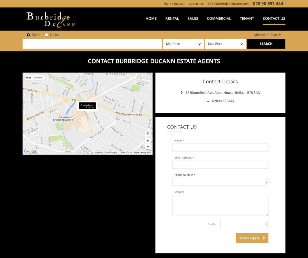 Contact Burbridge DuCann Estate Agents | Find Burbridge DuCann Estate agent Belfast, Northern Ireland