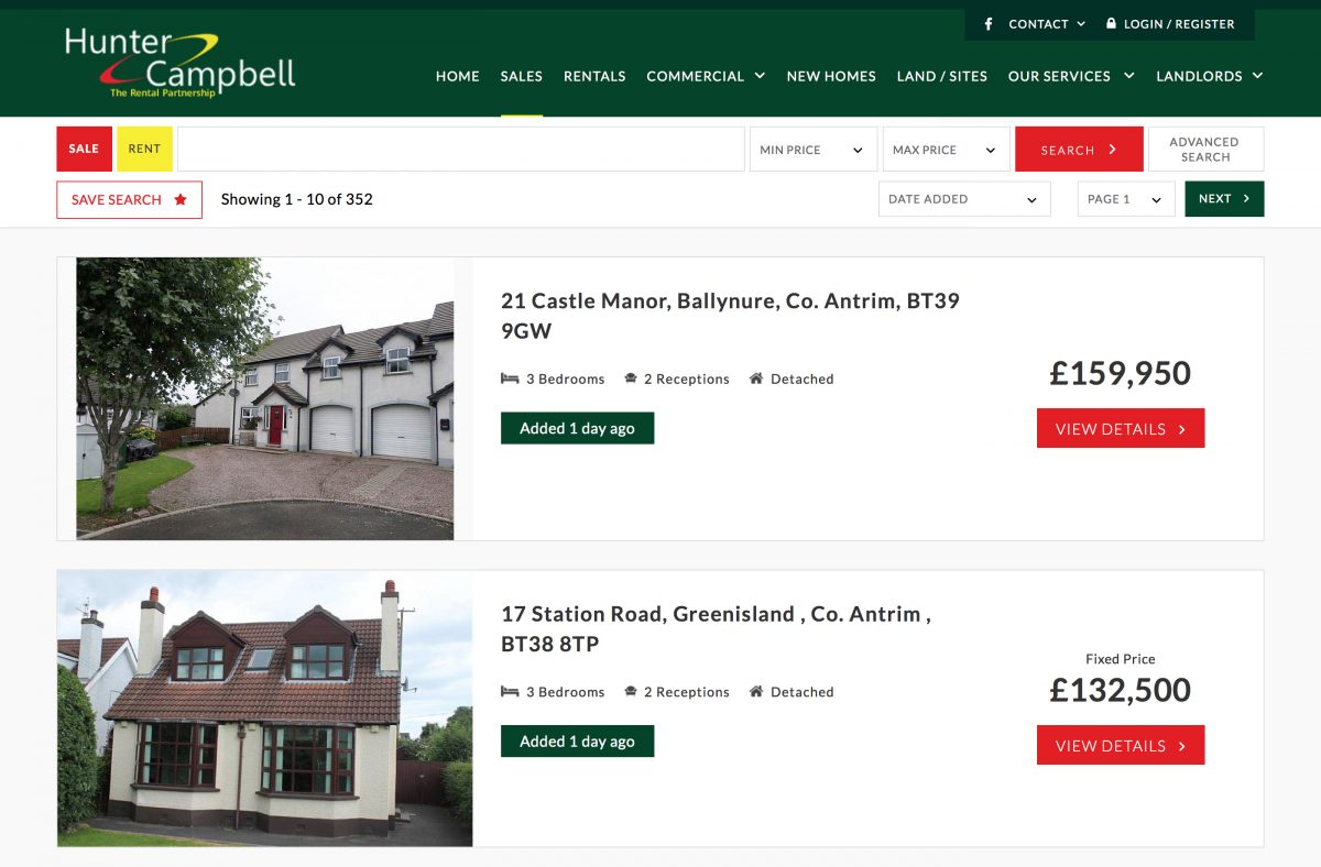 Properties for sale at Hunter Campbell estate agents Northern Ireland 2799887