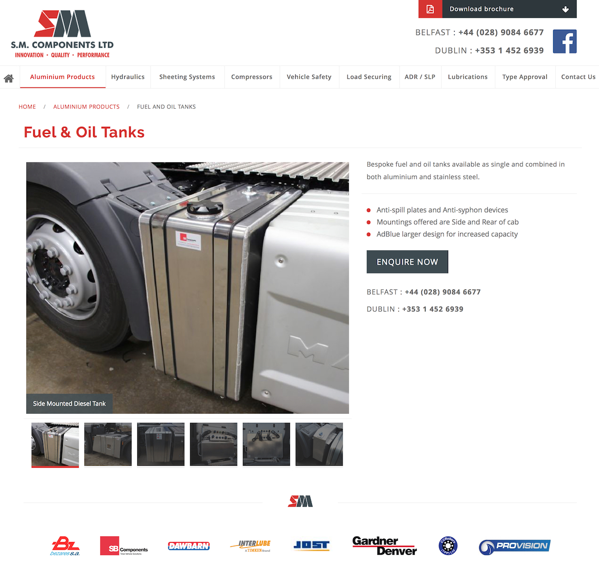 Fuel and Oil Tanks for sale at SM Components