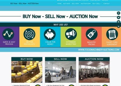 Online Auction Web Design Portfolio Blue Cubes Web Design