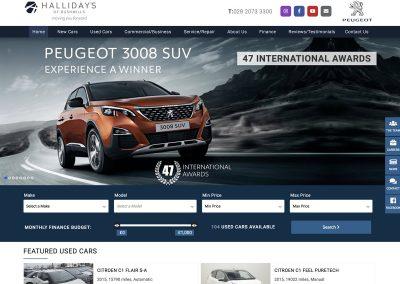 Hallidays Peugeot